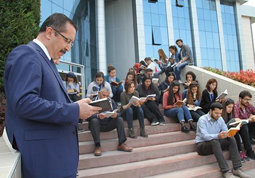 Rektör Bağ'dan kütüphane müjdesi