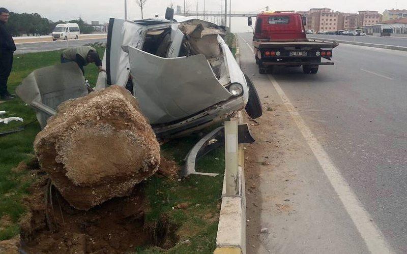 Kocabaş'ta kaza: 2 yaralı