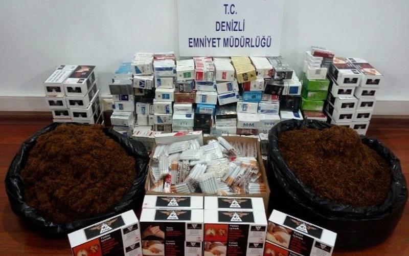 Polisten kaçak sigara ve tütün operasyonu