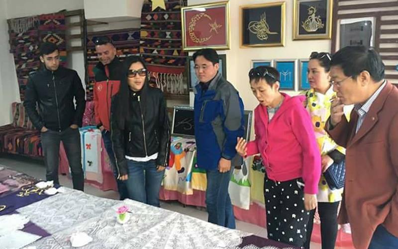 Çinli kafile Çameli'de