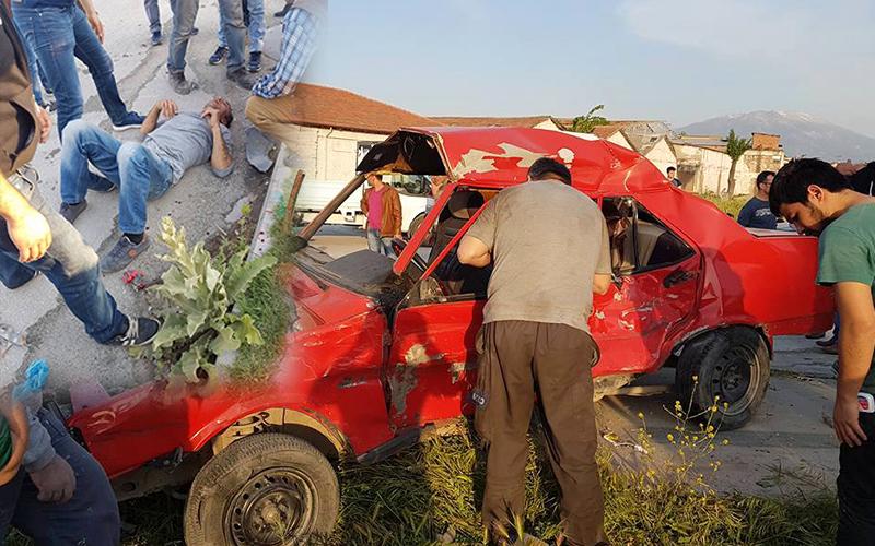 Otomobil hurdaya döndü: 1 yaralı