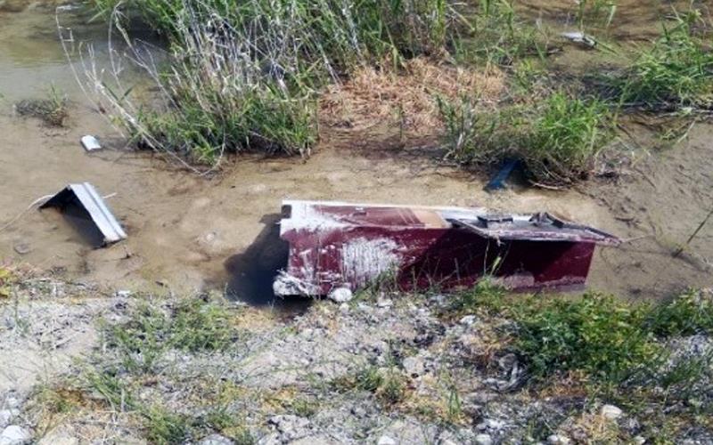 Çalınan çelik kasa su kanalından çıktı
