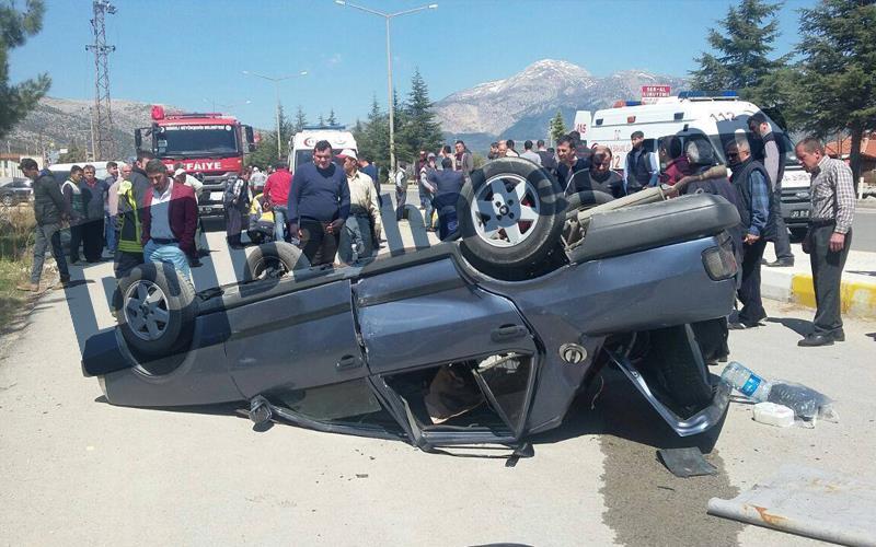 Serinhisar'da kaza: 5 yaralı