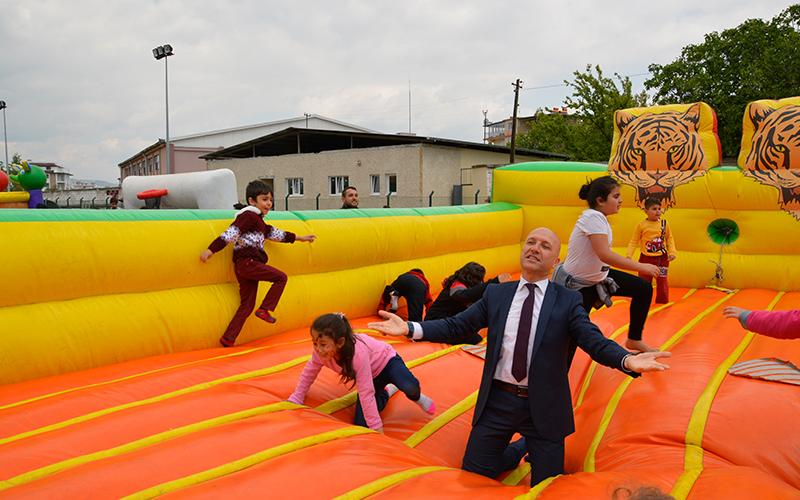 Sarayköy'de Başkan da çocuklar da şendi