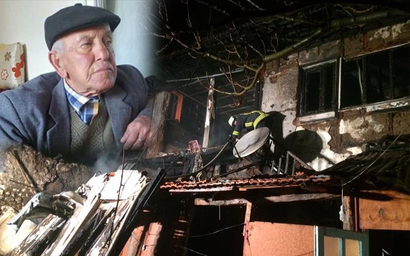 Serinhisar'da 1 kişi yanarak öldü