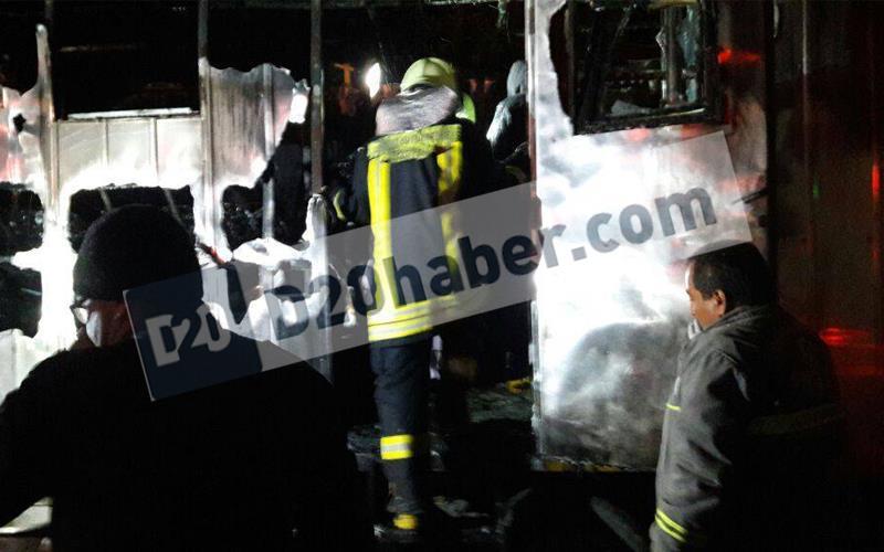 DSİ Şantiyesi'nde yangın: 1 ölü