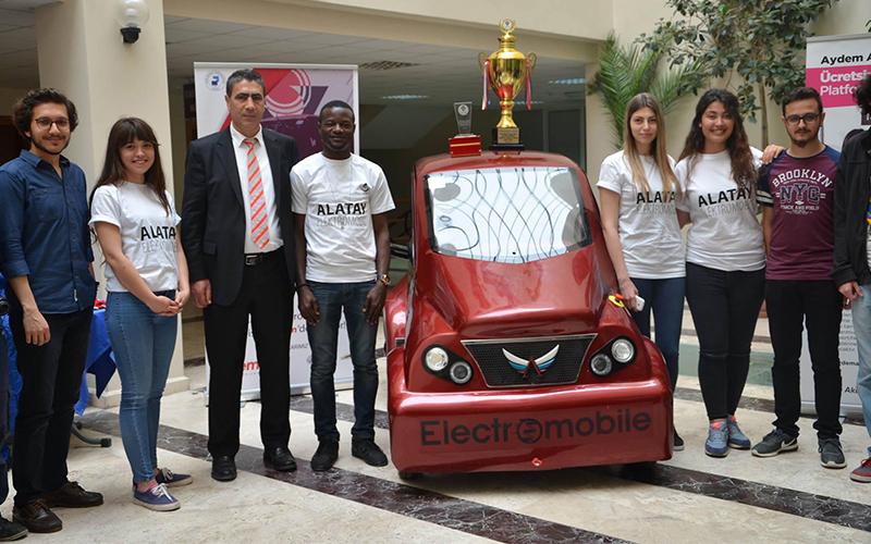 PAÜ'nün elektrikli otomobili Alatay'a yerli motor