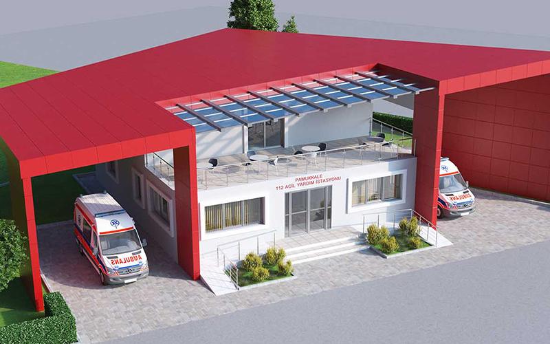 Pamukkale Belediyesi'nden Karahayıt'a 112 istasyonu