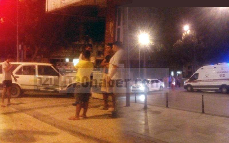Atatürk Caddesi'ndeki kazada 1 yaralı var