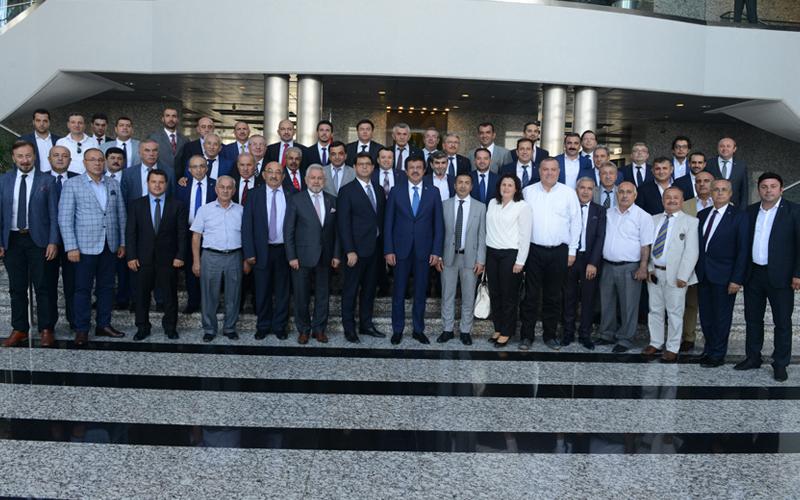 DTO, Bakan Zeybekci'yi Ankara'da ziyaret etti