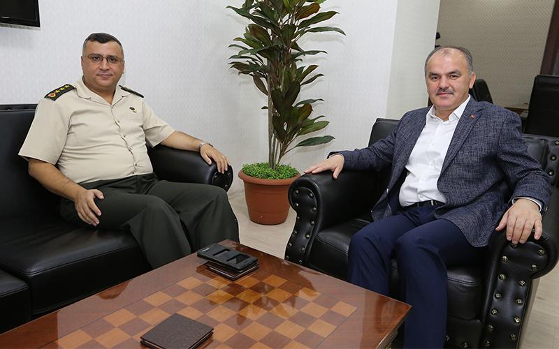 Albay Metin Düz'den Başkan Gürlesin'e iade-i ziyaret
