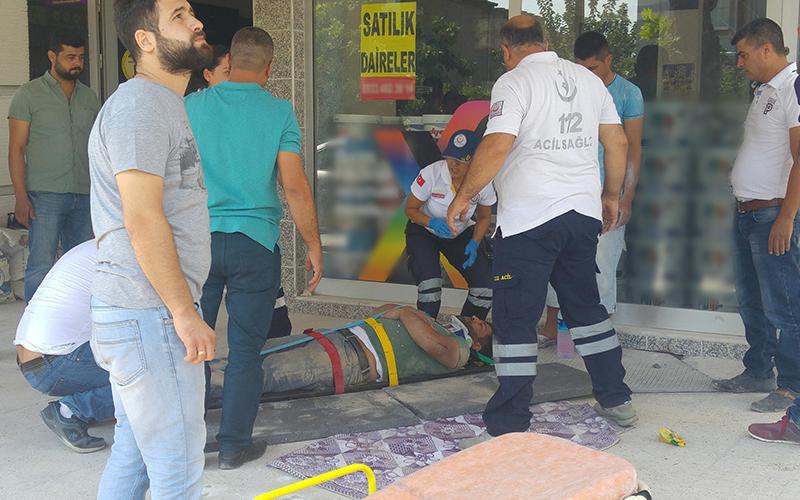 Denizli'de iskeleden düşen 2 işçi yaralandı