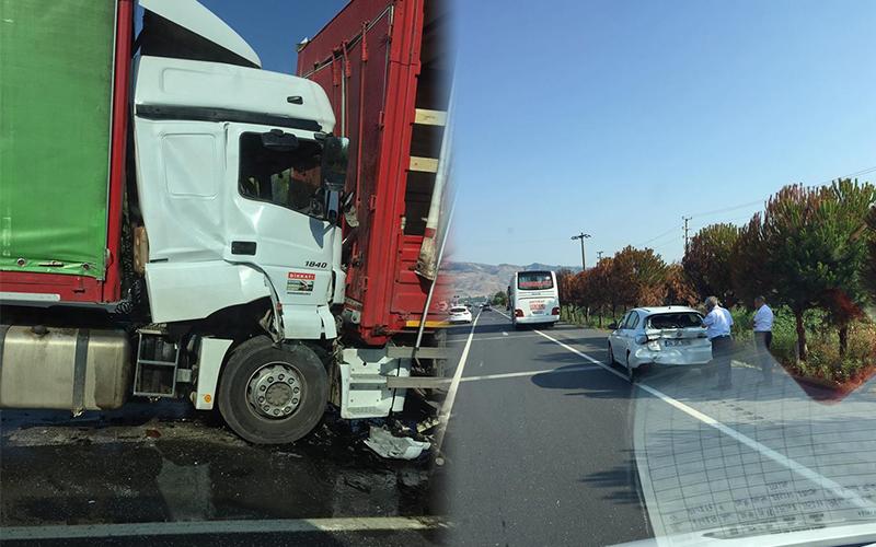 Sarayköy'deki zincirleme kazada 1 yaralı var