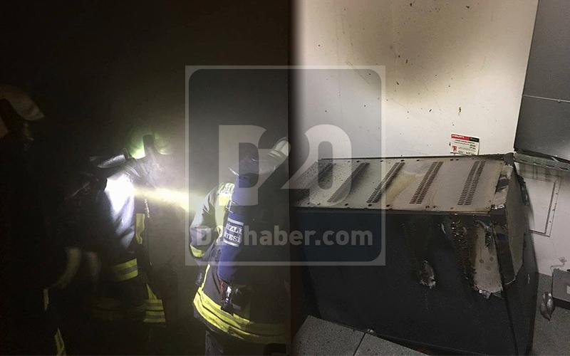 Dev market yangın tehlikesi atlattı
