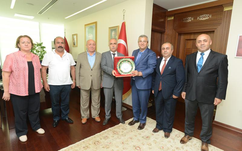 Kocaeli Giresun Dernekler Federasyonu'ndan Karahan'a ziyaret