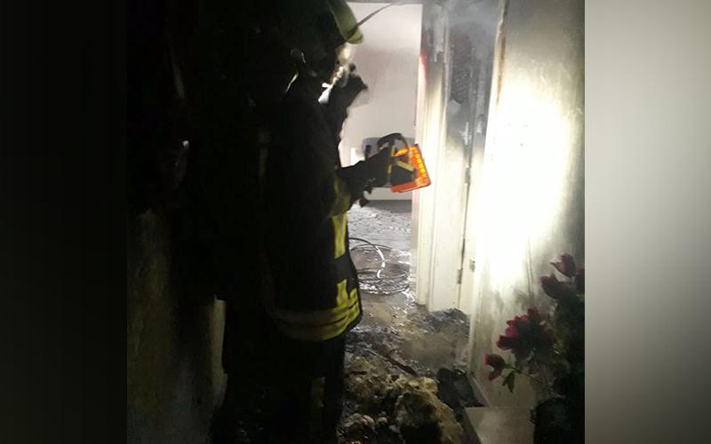Honaz'da ev yangını
