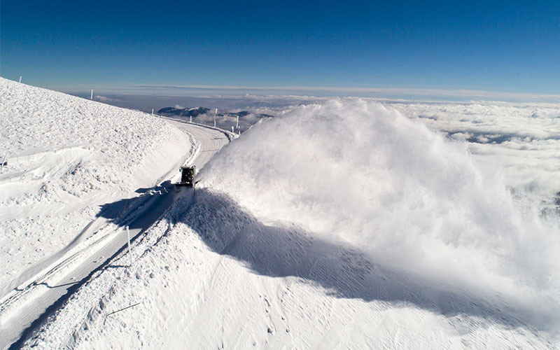 Büyükşehir'den karla mücadeleye hızlı ve pratik çözüm