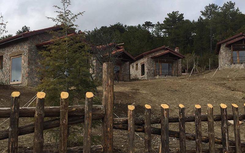 Denizli'nin Çameli İlçesi'nde saunalı hamamlı eko turizm evleri