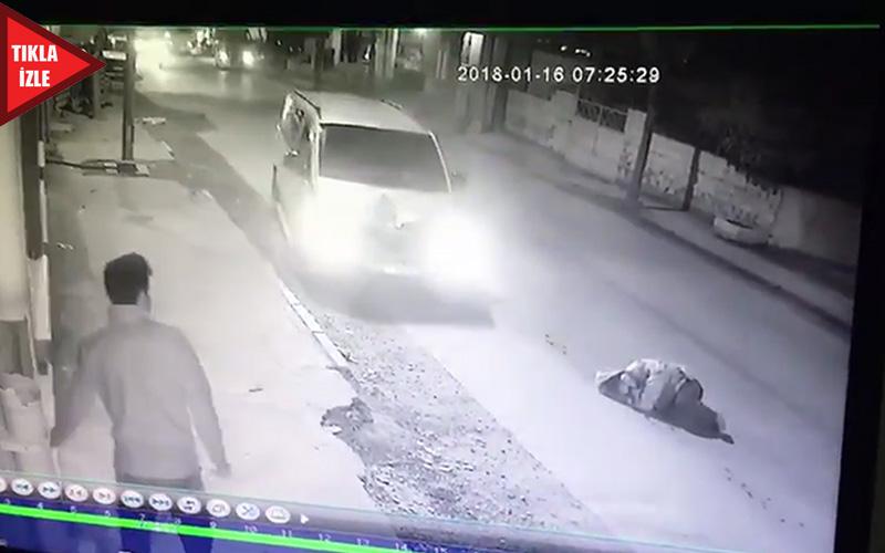 Aracın çarptığı yaya metrelerce sürüklendi