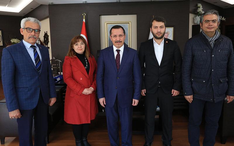 Türk Ocakları Denizli Şubesi Rektör Bağ'ı ziyaret etti