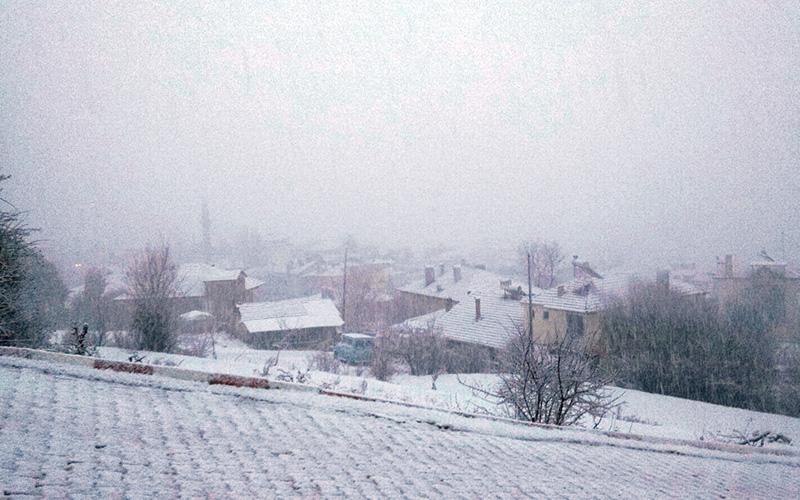 Kar yağışı başladı o ilçe beyaza büründü