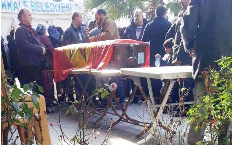 ÖDP Denizli il yöneticisinin cenazesinde bayrak gerginliği