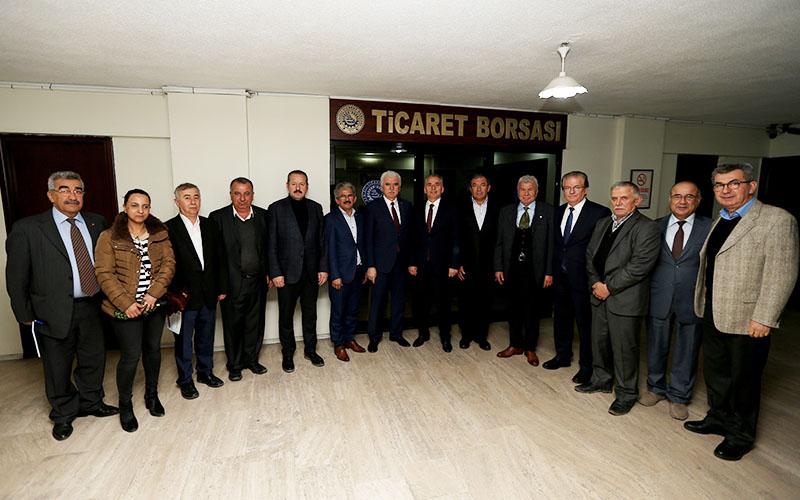 Büyükşehir Belediye Başkanı Zolan DTB'ye konuk oldu