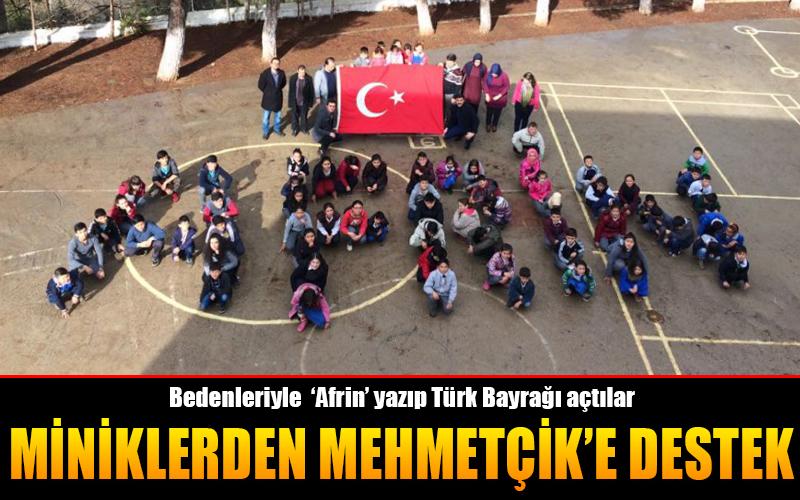 Miniklerden Mehmetçik'e destek