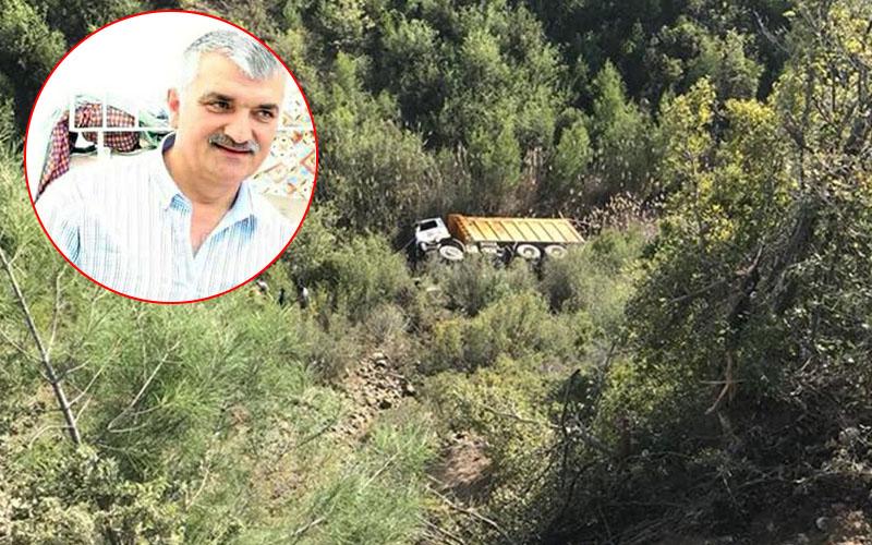 Uçuruma yuvarlanan kamyonun sürücüsü yaşamını yitirdi