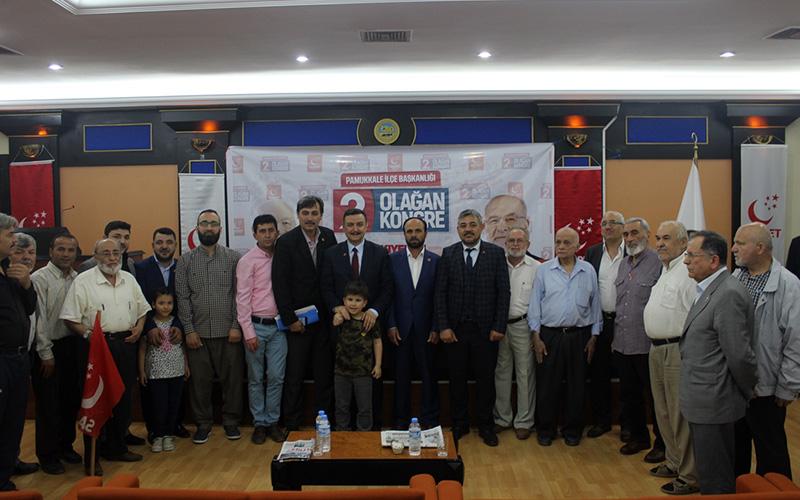 SP Pamukkale İlçe Başkanlığına Güner yeniden seçildi