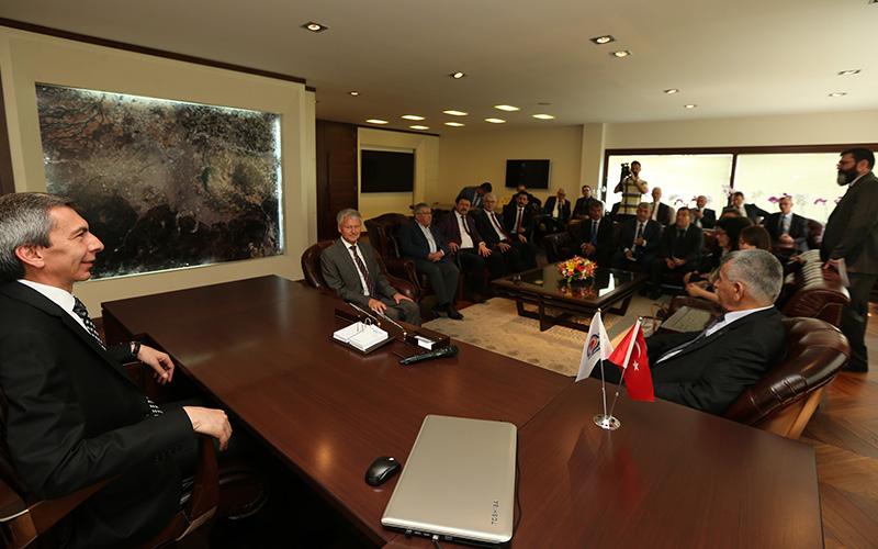 Türk-Alman Kooperatif Birlikleri'nden Büyükşehir'e ziyaret