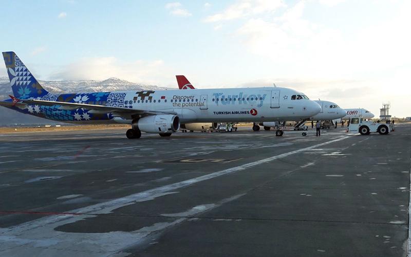 Çardak Havalimanı'ndan yurt dışı yolcu sayısı %37 arttı