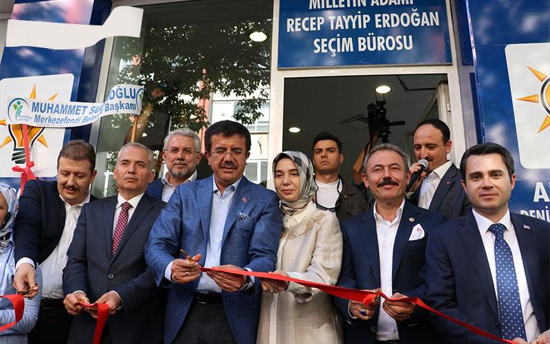 Erdoğan için seçim bürosu açıldı