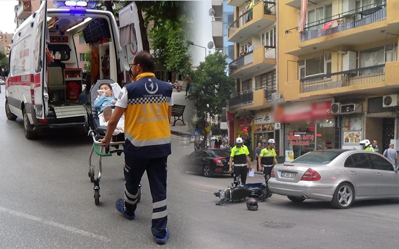 Otomobil ile motosiklet çarpıştı: 1 çocuk yaralandı