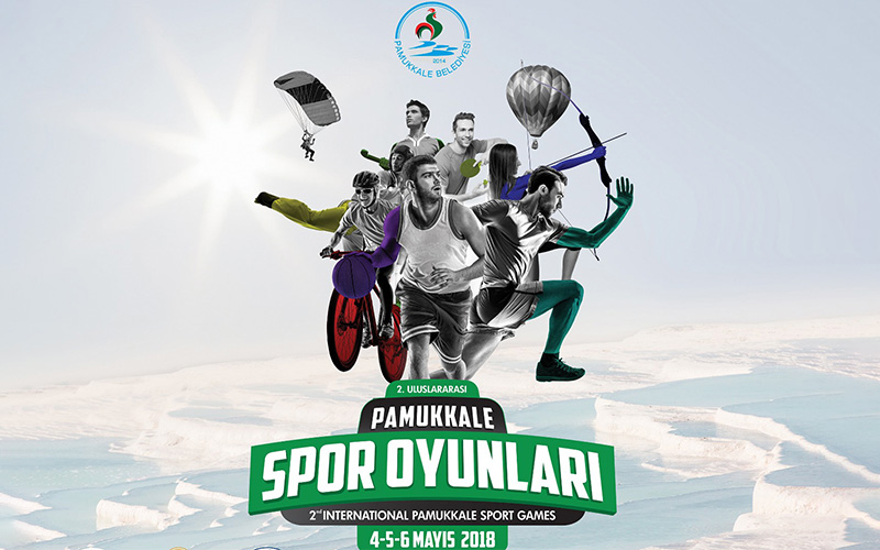 Uluslararası Pamukkale Spor Oyunları'nda spor ve eğlence bir arada