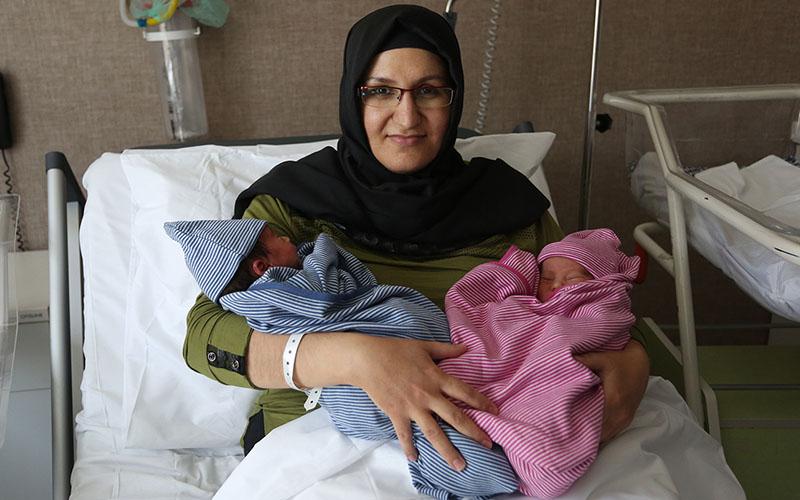 PAÜ'nün ilk tüp bebekleri ikiz