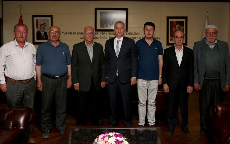 Hizmetler için Başkan Zolan'a teşekküre geldiler
