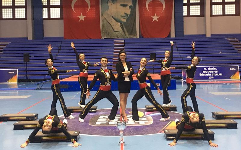 PAÜ Cimnastik Takımı Koç Spor Fest'te şampiyon oldu
