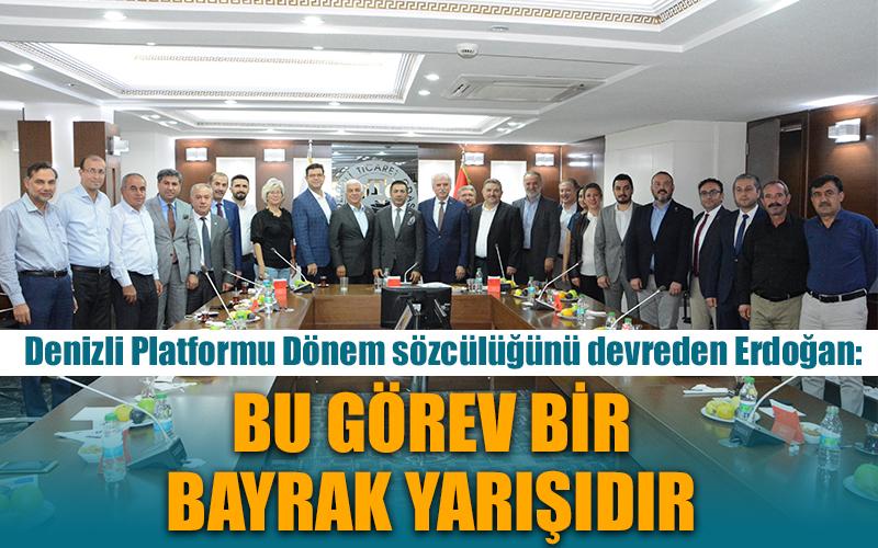 Erdoğan Denizli Platformu Sözcülüğünü Tefenlili'ye devretti