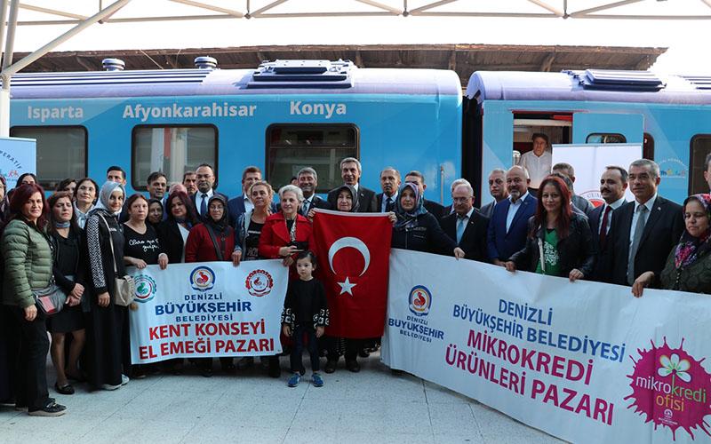 Sosyal Kooperatif Eğitim ve Tanıtım Treni Denizli'de