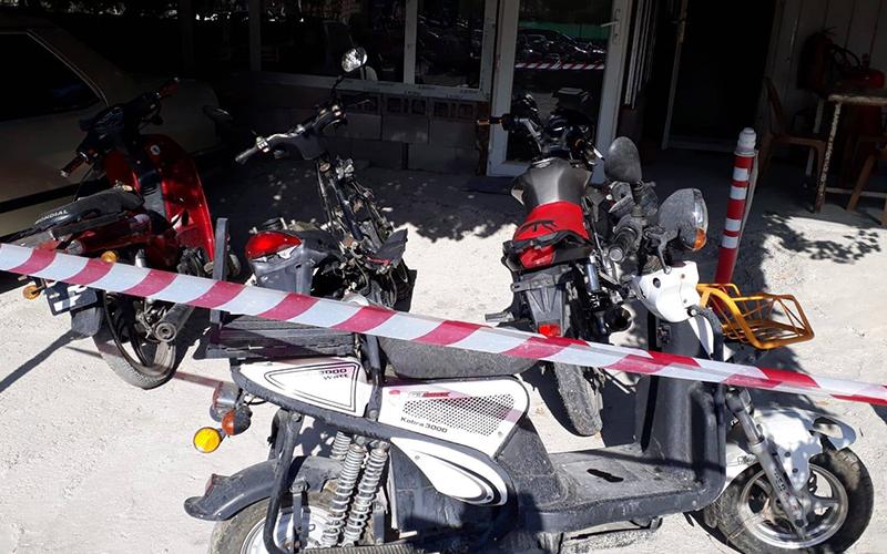 Motosiklet hırsızı cezaevini boyladı