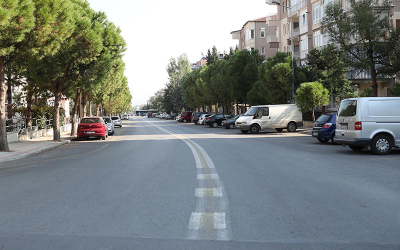 Barbaros Caddesi'nde üst yapı tamamlandı