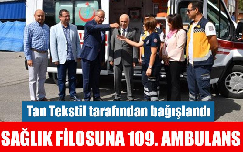 Tan Tekstil'den Denizli Sağlık Müdürlüğüne ambulans bağışı