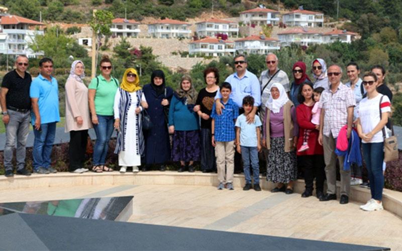 Şehit aileleri Alanya'da buluştu