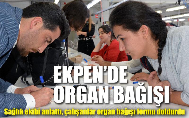 Ekpen Tekstil'de organ bağışı