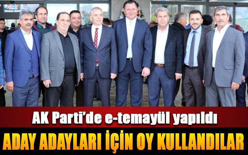AK Parti'de aday adayları için temayül yoklaması yapıldı