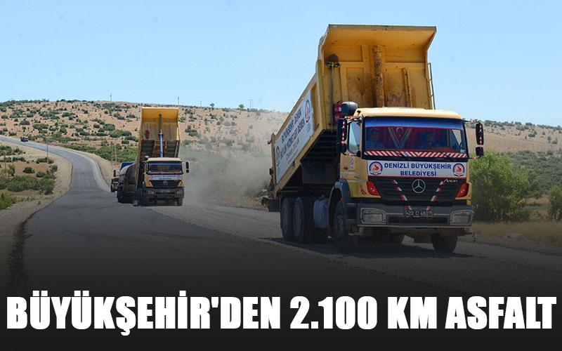 Büyükşehir'den 2.100 kilometre asfalt