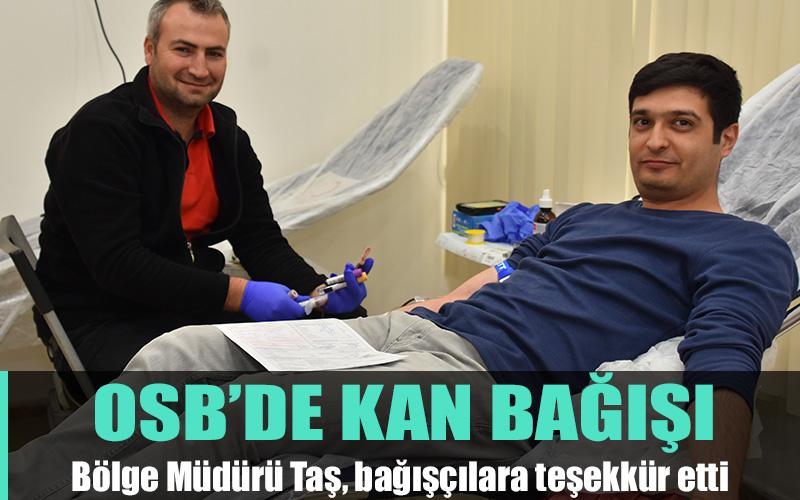 Denizli OSB'de Kızılay'a kan bağışı
