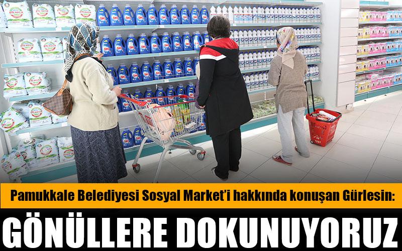 Gürlesin: Sosyal Market'ten bin 500 aile faydalandı
