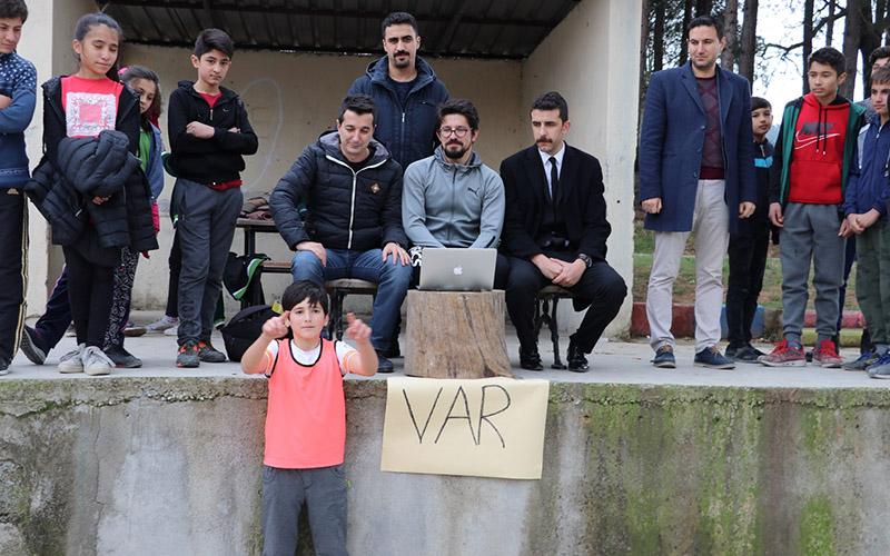 Okul turnuvasında 'VAR'